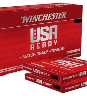 Winchester USA Ready Large Rifle Match Primers Box of 1000 (10 Trays of 100)
