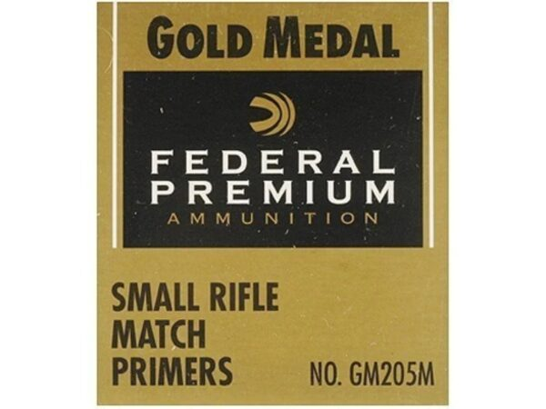 Federal Premium Gold Medal Small Rifle Match Primers #205M Box of 1000 (10 Trays of 100)