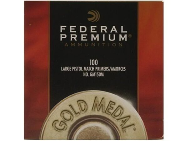 Federal Premium Gold Medal Large Pistol Match Primers #150M Box of 1000 (10 Trays of 100)