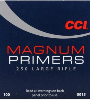 CCI Large Rifle Magnum Primers #250 Box of 1000 (10 Trays of 100)