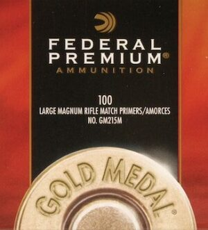 Federal Premium Gold Medal Large Rifle Magnum Match Primers #215M Box of 1000 (10 Trays of 100)