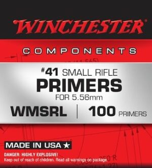 Winchester Small Rifle 5.56mm NATO-Spec Military Primers #41 Box of 1000 (10 Trays of 100)