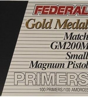 Federal Premium Gold Medal Small Pistol Magnum Match Primers #200M Box of 1000 (10 Trays of 100)