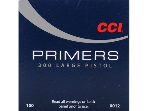 CCI Large Pistol Primers #300 Box of 1000 (10 Trays of 100)