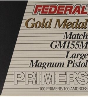 Federal Premium Gold Medal Large Pistol Magnum Match Primers #155M Box of 1000 (10 Trays of 100)
