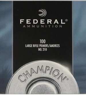 Federal Large Rifle Primers #210 Box of 1000 (10 Trays of 100)