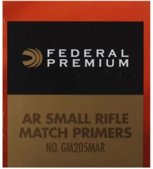 Federal Premium Gold Medal AR Match Grade Small Rifle Primers #GM205MAR Box of 1000 (10 Trays of 100)