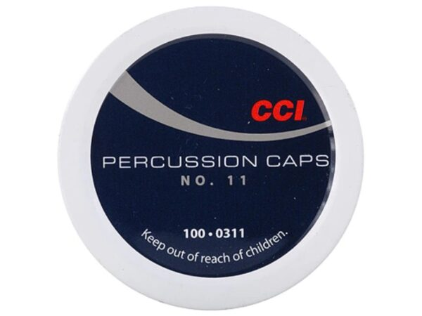 CCI Percussion Caps #11 Box of 1000 (10 Cans of 100)
