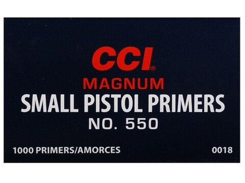 CCI Small Pistol Magnum Primers #550 Box of 1000 (10 Trays of 100)