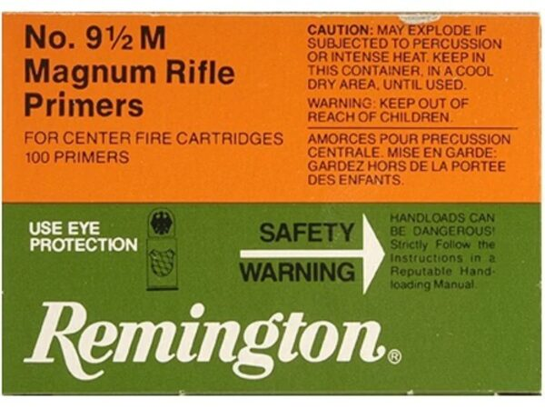 Remington Large Rifle Magnum Primers #9-1/2M Box of 1000 (10 Trays of 100).