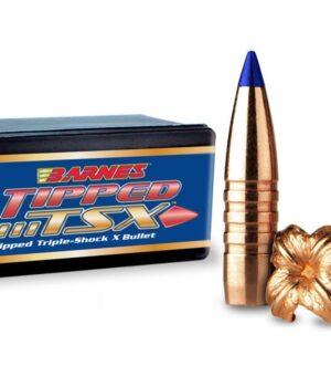 Barnes Tipped Triple-Shock X (TTSX) Bullets 30 Caliber (308 Diameter) 165 Grain Spitzer Boat Tail Lead-Free Box of 50